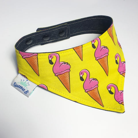 Flamingo Icecream Cone Reversible Bandana