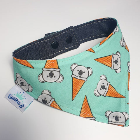 Koala Icecream Cone Reversible Bandana