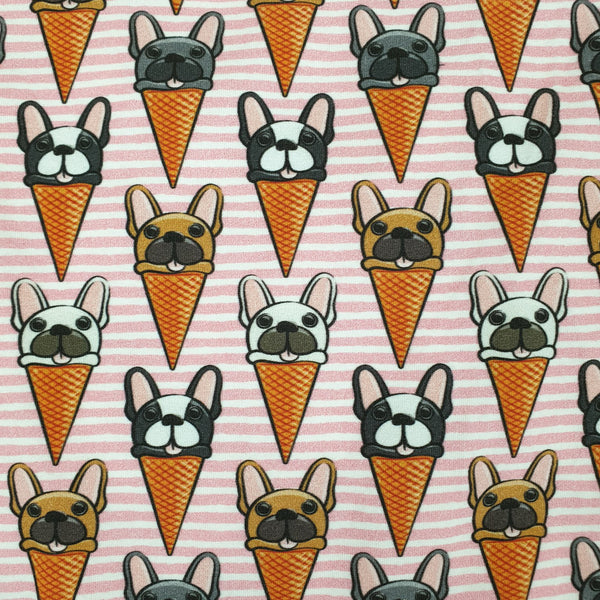 Pink Frenchie Icecream Cone Classic Tee