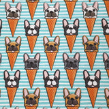 Blue Frenchie Icecream Cone Classic Tee