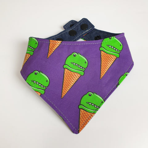 Dinosaur Icecream Cone Bandana