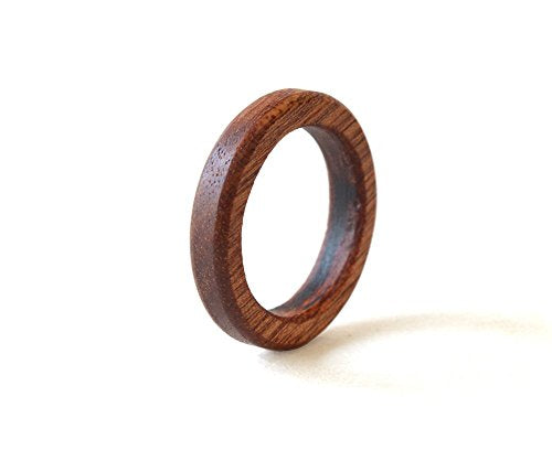 Mahogany Wood Wedding Band - Mister Bands