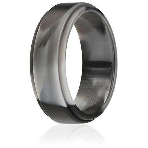 Silicone Wedding Band Black Camo - Mister Bands