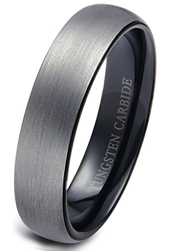 Tungsten Wedding Band Brushed Black - Mister Bands