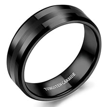 Load image into Gallery viewer, Tungsten Black Wedding Band - Mister Bands