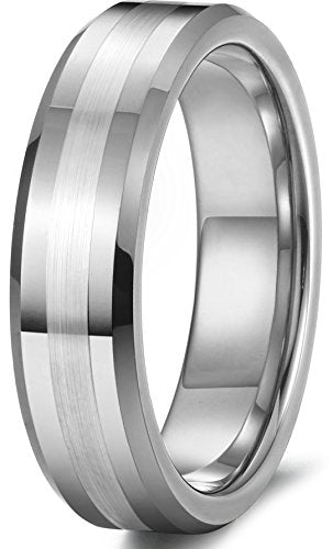 Tungsten Wedding Band Silver Matte Finish - Mister Bands