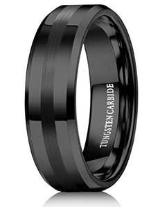 Tungsten Black Wedding Band - Mister Bands