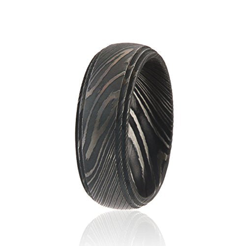 Damascus Steel Wedding Band - Mister Bands