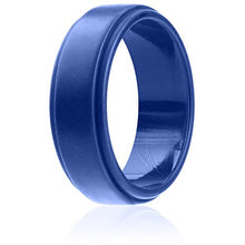 Load image into Gallery viewer, Silicone Wedding Band Blue - Mister Bands