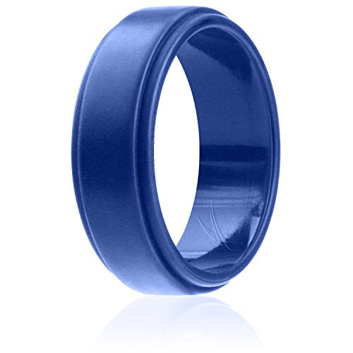 Silicone Wedding Band Blue - Mister Bands