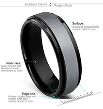 Load image into Gallery viewer, Tungsten Carbide Wedding Band Beveled Edge - Mister Bands