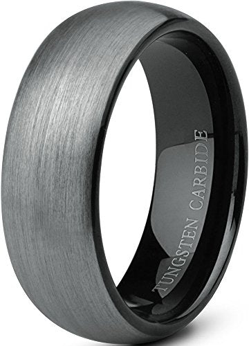 Tungsten Wedding Band Black 8mm - Mister Bands