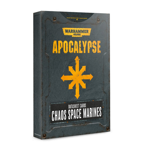 Apocalypse Datasheet Cards: Chaos Space Marines