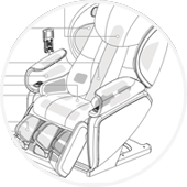 Johnson Wellness J6800 Airbags