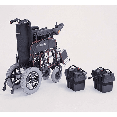 Merits Health P101 Folding Power Wheelchair