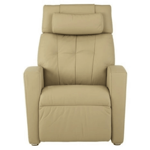 Positive Posture Luma Leather Zero Gravity Recliner Cream