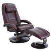 Image of Relax-R Brampton Recliner and Ottoman in Merlot Top Grain Leather