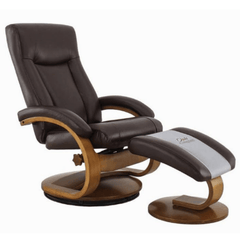 Relax-R Recliner Whisky Air Leather Relax-R Hamilton Recliner with Ottoman