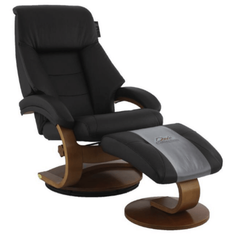 Relax-R Recliner Espresso Top Grain Leather Relax-R Montreal Recliner with Ottoman