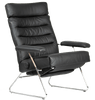 Image of Lafer Recliner Black Lafer Adele Recliner