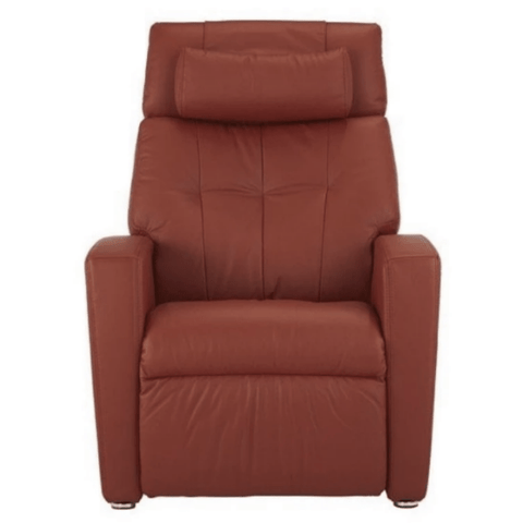 Positive Posture Luma Leather Zero Gravity Recliner Garnet
