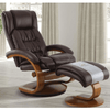 Image of Relax-R Norfolk Recliner and Ottoman in Whisky Air Leather