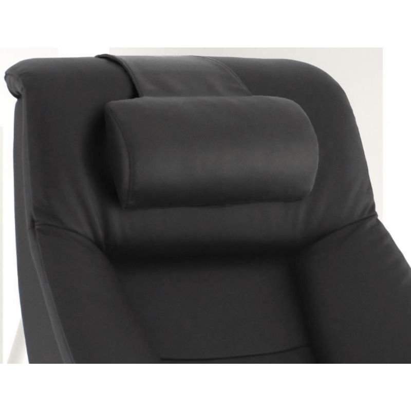 Relax-R Montreal Recliner and Ottoman with Pillow in Espresso Top Grain Leather