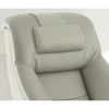 Image of Relax-R Montreal Recliner and Ottoman with Pillow in Putty Top Grain Leather