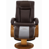 Image of Relax-R Hamilton Recliner and Ottoman with Pillow in Whisky Air Leather