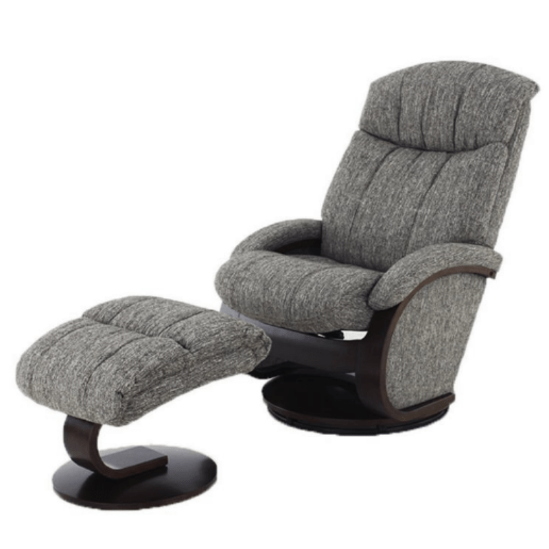 Relax- R Alma Recliner and Ottoman in Teatro Graphite Fabric