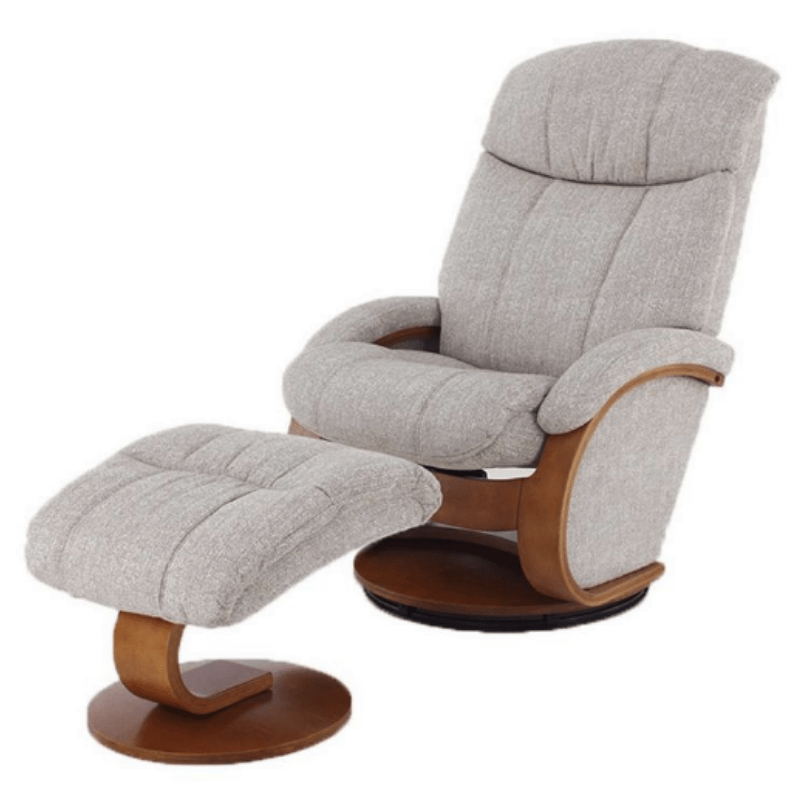 Relax- R Alma Recliner and Ottoman in Teatro Linen Fabric