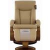 Image of Relax-R Hamilton Recliner and Ottoman in Cobblestone Top Grain Leather