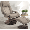 Image of Relax-R Brampton Recliner and Ottoman in Teatro Graphite Fabric