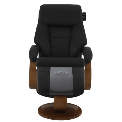 Relax-R Montreal Recliner and Ottoman in Espresso Top Grain Leather