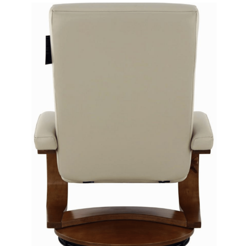 Relax-R Hamilton Recliner and Ottoman in Beige Air Leather
