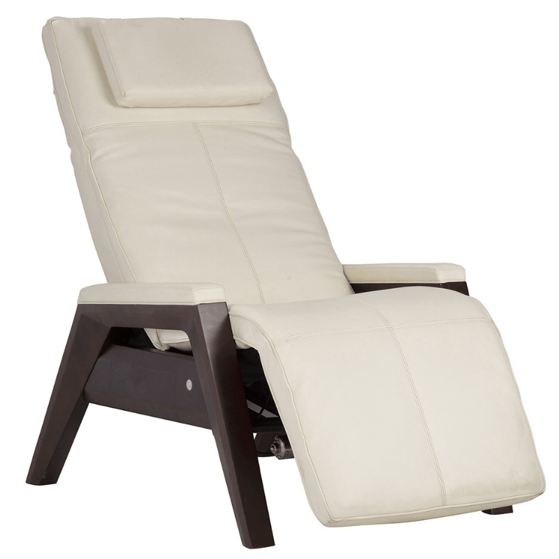 Human Touch Recliner Bone / Mahogany / Free Curbside Delivery + $0.00 Human Touch ZG Gravis Zero Gravity Recliner