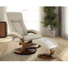 Image of Relax-R Hamilton Recliner and Ottoman in Beige Air Leather