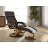 Image of Relax-R Hamilton Recliner and Ottoman in Whisky Air Leather