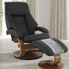 Image of Relax-R Montreal Recliner and Ottoman in Espresso Top Grain Leather