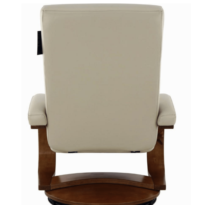 Relax-R Norfolk Recliner and Ottoman in Beige Air Leather