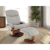 Image of Relax- R Alma Recliner and Ottoman in Teatro Linen Fabric