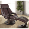 Image of Relax-R Montreal Recliner and Ottoman in Merlot Top Grain Leather