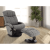 Image of Relax- R Alma Recliner and Ottoman in Teatro Graphite Fabric