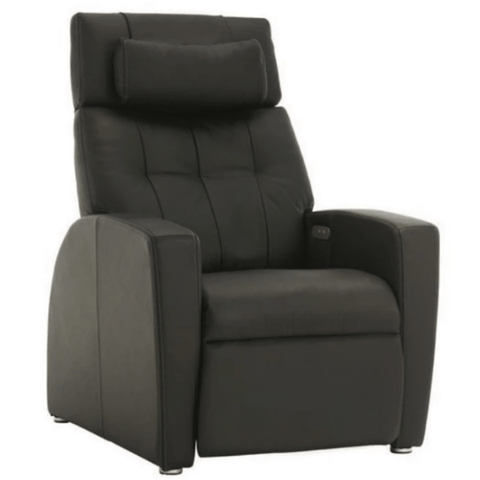 Positive Posture Luma Leather Zero Gravity Recliner Black