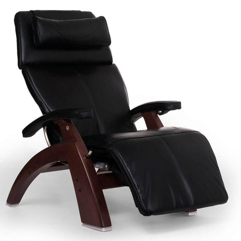 Human Touch Recliner Chestnut Wood / Black Premium Leather + $500.00 / Free Curbside Delivery + $0.00 Human Touch Perfect Chair PC-610 Omni-Motion Classic Recliner