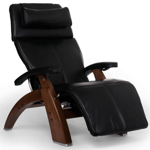 Human Touch Recliner Walnut Wood / Black Premium Leather + $500.00 / Free Curbside Delivery + $0.00 Human Touch Perfect Chair PC-610 Omni-Motion Classic Recliner