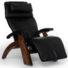 Image of Human Touch Recliner Walnut Wood / Black Premium Leather + $500.00 / Free Curbside Delivery + $0.00 Human Touch Perfect Chair PC-610 Omni-Motion Classic Recliner