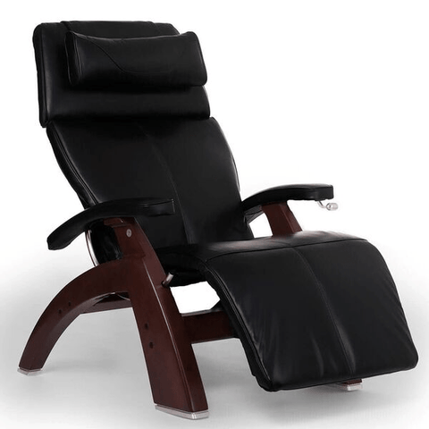 Human Touch Recliner Black Wood / Black Premium Leather + $500.00 / Free Curbside Delivery + $0.00 Human Touch Perfect Chair PC-420 Classic Plus Recliner