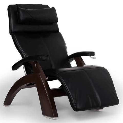 Human Touch Recliner Dark Walnut Wood / Black Premium Leather + $500.00 / Free Curbside Delivery + $0.00 Human Touch Perfect Chair PC-420 Classic Plus Recliner