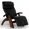 Image of Human Touch Recliner Walnut Wood / Black Premium Leather + $500.00 / Free Curbside Delivery + $0.00 Human Touch Perfect Chair PC-420 Classic Plus Recliner